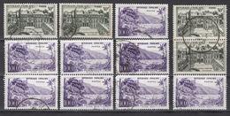 FRANCE 1959 - LOT Y.T. N° 1192 X 4 / 1194 X 8 - OBLITERES / K127 - Francia