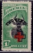 Liberia, 1918, Bongo Antelope, Surcharged, Scott# B3, Used - Liberia