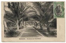 Congo Belge Carte Boma 1912 / Banana Lettre Cover Carta