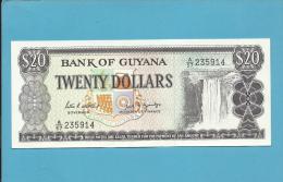 GUYANA - 20 DOLLARS - ND ( 1989 ) Sign. 7 - Pick 24.d - AUNC. - 2 Scans - Guyana