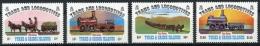 Turks And Caicos Islands, 1983, Horse Trams, Locomotives, MNH, Michel 620-623 - Turks & Caicos (I. Turques Et Caïques)