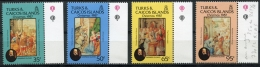 Turks And Caicos Islands, 1987, Christmas, MNH, Michel 786-789 - Turks And Caicos