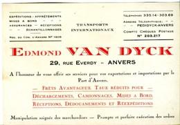 Edmond Van Dyck, 29 Rue Everdy, Port D'Anvers, Antwerpen, Exportation Importation - Transport