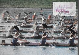 ALLEMAGNE  BERLIN    Carte  Maxi   JO 1984   Canoe Kayak