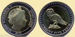 TRISTAN Da CUNHA Gough Islands 2009 25 Pence Bimetal Owl UNC - Monete