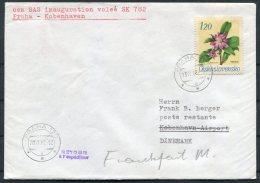 1968 SAS First Flight Cover Prague - Copenhagen, Denmark - Airmail