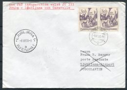 1968 JAT First Flight Cover Prague - LJUBLJANA - Airmail