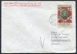 1968 SAS First Flight Cover Prague - Budapest, Hungary - Airmail