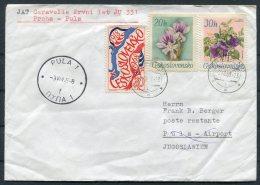 1968 JAT First Flight Cover Prague - Pula - Airmail