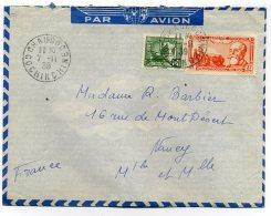 Lettre De CHAUDOC  COCHINCHINE  / TP Indochine / Lettre Par Avion  /  7 Nov 1939 / Pour Navey Meurthe Et Moselle - Storia Postale