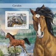 MOZAMBIQUE 2016 SHEET CABALLOS HORSES CHEVAUX CAVALOS PFERDEN CAVALLI Moz16414b - Mozambique