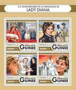 GUINEA 2016 SHEET LADY DIANA PRINCESS WALES ROYALTY POPE JOHN PAUL PRINCE WILLIAM QUEEN ELIZABETH MOTHER TERESA Gu16406a - Guinea (1958-...)