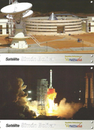 J) 2008 VENEZUELA, SIMON BOLIVAR SATELLITE, SPACESHIPS, TECHNOLOGY,  ARTIFICIAL SATELLITE, POSTCARD, SET OF 10 - Venezuela