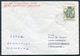1968 JAT First Flight Cover Bratislava - Dubrovnik - Airmail