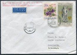 1971 CSA First Flight Cover Bratislava - Constanta, Romania - Airmail