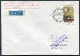 1971 CSA First Flight Cover Bratislava - Sofia, Bulgaria - Airmail