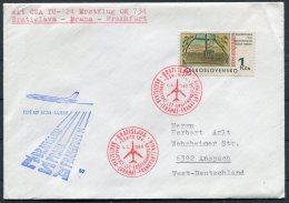 1969 CSA First Flight Cover Bratislava - Frankfurt, Germany - Airmail