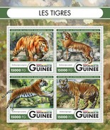 GUINEA 2016 SHEET TIGERS TIGRES FELINES WILD CATS CHATS SAUVAGES RAUBKATZEN FELINS FELINOS FELINI WILDLIFE Gu16508a - Guinee (1958-...)