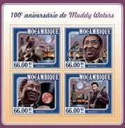 MOZAMBIQUE 2015 SHEET MUDDY WATERS MUSIC Moz15123a - Mozambique