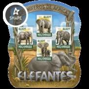 MOZAMBIQUE 2015 SHEET ELEFANTES ELEPHANTS ELEFANTEN ELEFANTI WILDLIFE Moz15214a - Mozambique