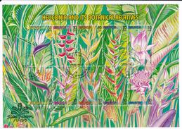 Malaysia 1999 Set Heliconia Plant Used Flowers English Uk Gb