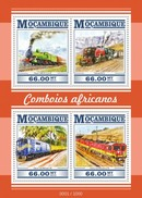 MOZAMBIQUE 2015 SHEET AFRICAN TRAINS TRENES LOCOMOTIVES LOCOMOTORAS Moz15304a - Mozambique