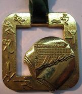 MEDAILLE ATHLETISME UNSS UNION NATIONALE DU SPORT SCOLAIRE 1994 CHAMPION DEPARTEMENTAL RUBAN CA CREDIT AGRICOLE DECAT PA - Athlétisme