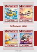 MOZAMBIQUE 2015 SHEET AIR AMBULANCE AMBULANCIA AEREA Moz15305a - Mozambique
