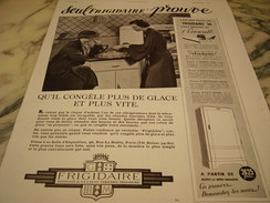 ANCIENNE PUBLICITE FRIGIDAIRE ECOWATT  1936 - Advertising