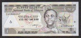 528-Ethiopie Billet De 1 Birr 2008 IA198 - Ethiopie