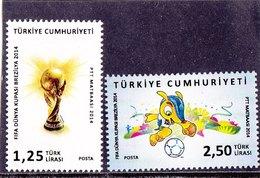 Turkey 2014 FIFA Cup 2v MNH** - 2014 – Brazilië