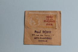 1948   IMPÔT  SUR  LES  VÉLOCIPÈDES    2   PHOTOS - Steuermarken