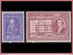 Ruanda 0200/201* Mozart  H - Ruanda-Urundi