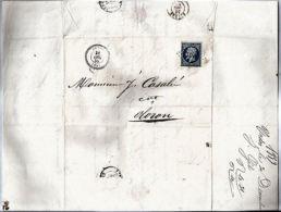 LETTRE < MARQUE POSTALE 1859 + TIMBRE NAPOLEON III - URDOS < OLORON-SAINTE-MARIE - Ohne Zuordnung