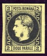 ROMANIA  1866 Prince Carol I   2 Para  On Thin Paper LHM / *.  Michel 14y - 1858-1880 Moldavia & Principality