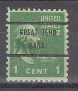 USA Precancel Vorausentwertung Preos Bureau Kansas, Great Bend 804-71