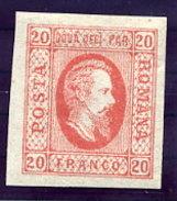 ROMANIA 1865 Prince Cuza 20 Para LHM / *.  Michel 13x - 1858-1880 Moldavia & Principality