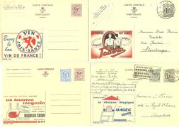 BELGIQUE ENTIER POSTAUX PUBLIBELS LOT DE 4 N° 2038-2309 ATH MEUBLE MATON - 1515-1160 - Publibels