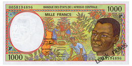 CENTRAL AFRICAN STATES CHAD 1000 FRANCS 2000 Pick 602Pg Unc - Central African States
