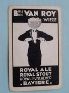 Brij VAN ROY WIEZE Royal Ale Stout Munchener BAVIERE ( Schoppen 3 ) - ( Details - Zie Foto´s Voor En Achter ) !! - Barajas De Naipe