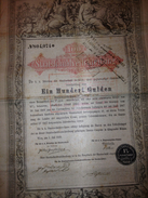 Titre Et Action : 100 Staatslchuldverlchreibung, Ein Hundert Gulden, 1868, Langres 1898 , Decret 1922 - Actions & Titres