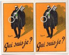 QUI SUIS JE  VILLIOD EUGENE  DETECTIVE PARIS  DEPLIANT DOUBLE VOLET  PUBLICITAIRE  TRES BELLE ILLUSTRATION - Reclame