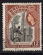 British Guiana, 1954,  SG 338, Used (Wmk Mult Script Crown CA) - British Guiana (...-1966)