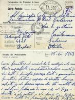 PRIGIONIERI POW CAMP DEPOT III BOGHARI ALGERIA 1943 X SANTOMENNO - Posta Militare (PM)