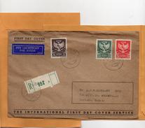 Indonesia 1950 Registered FDC Mailed - Indonesië