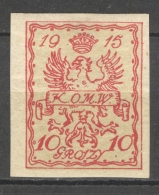 POLSKA - OFFICIALS - WARSAW 1915: YT 4, * MH - FREE SHIPPING ABOVE 10 EURO - Oficiales