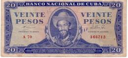 Cuba P.97 20 Pesos 1964 Vf - Cuba