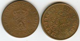 Indes Néerlandaises Netherlands East Indies 2 1/2 Cents 1945 P KM 316 - [ 4] Kolonies