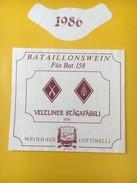 4026 - Bataillons Wein F¨s Bat 158 Veltiner Stägafässli 1986 Suisse - Militaire