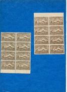 ARMENIE -1921/22 -N++ -Bloc De 8 En B De F- Dentelé Et Non Dentelé Du 25000 R.(brun) Cat Yvert N°118  Tres Bon état (2)
